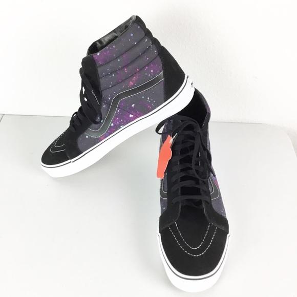 Vans Cosmic Black Mens Shoes Size 11.5 High Tops NWT